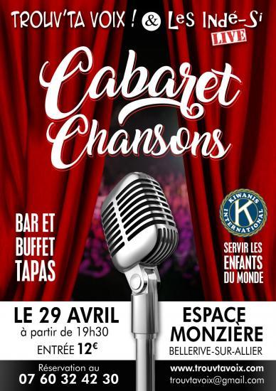 Cabaret chansons 29 avril espace monziere