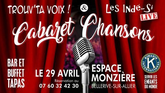 Cabaret chansons 29 avril