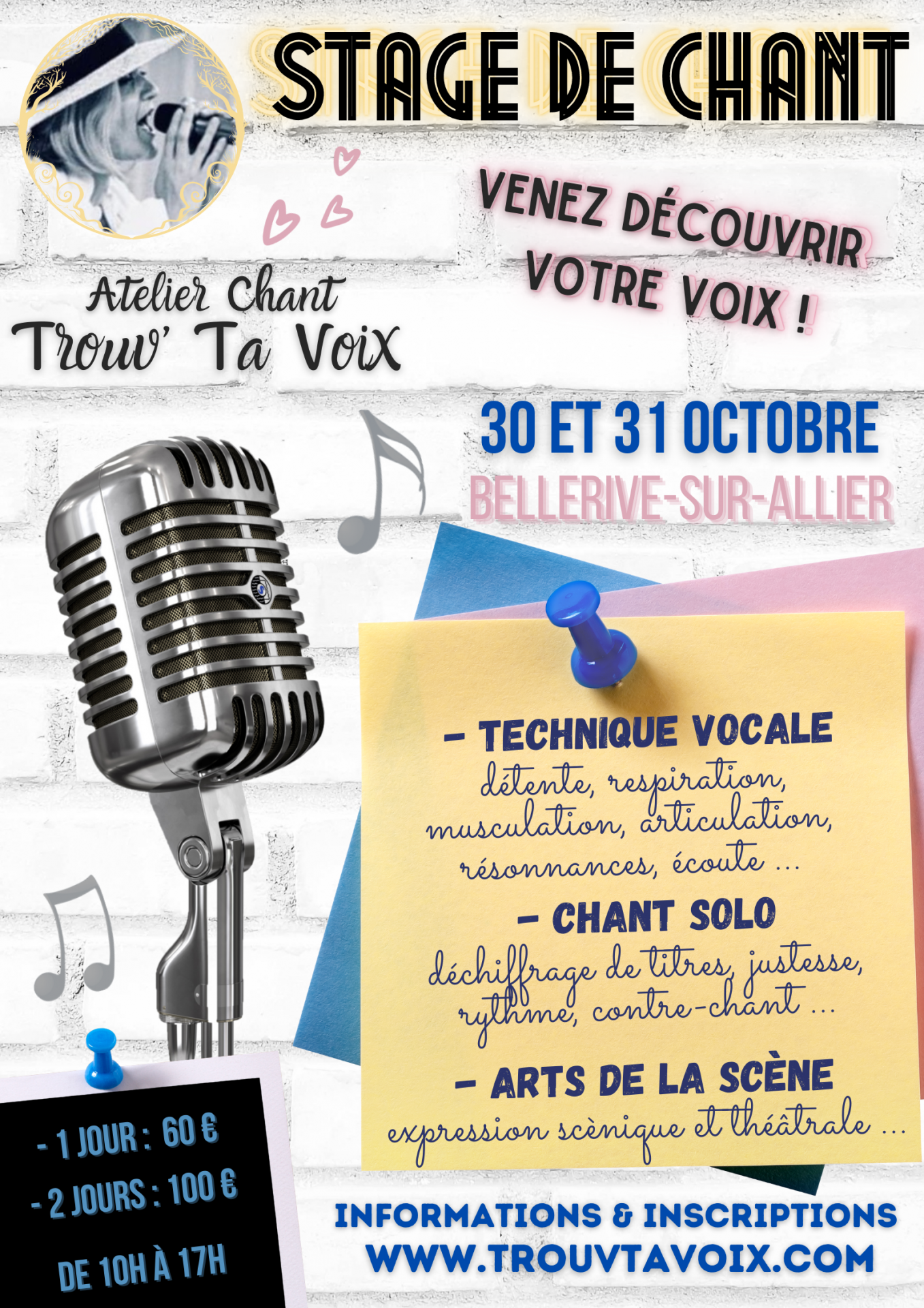 Stage chant 30 31 octobre